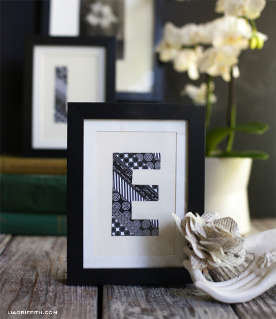 Washi Tape Monogram Art