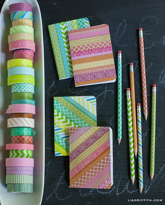 Washi Tape Pencils Notebooks