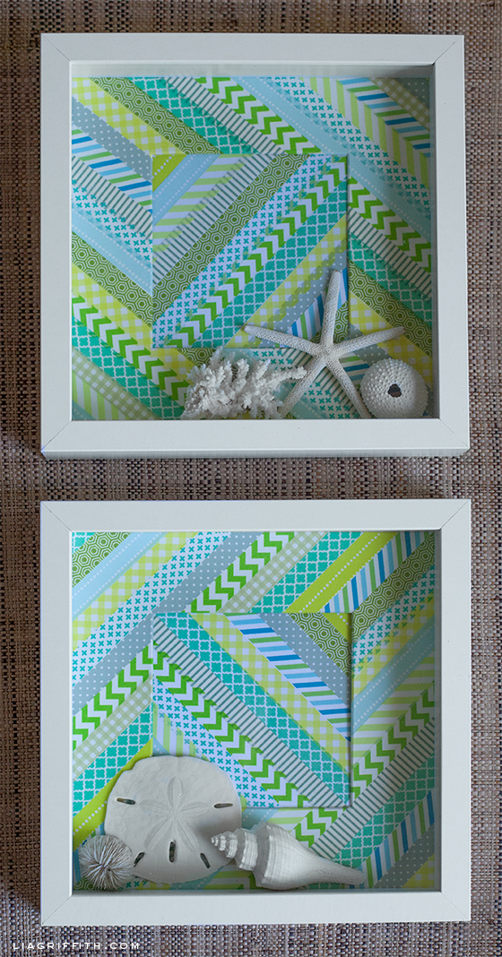 Washi Tape Shadow Boxes