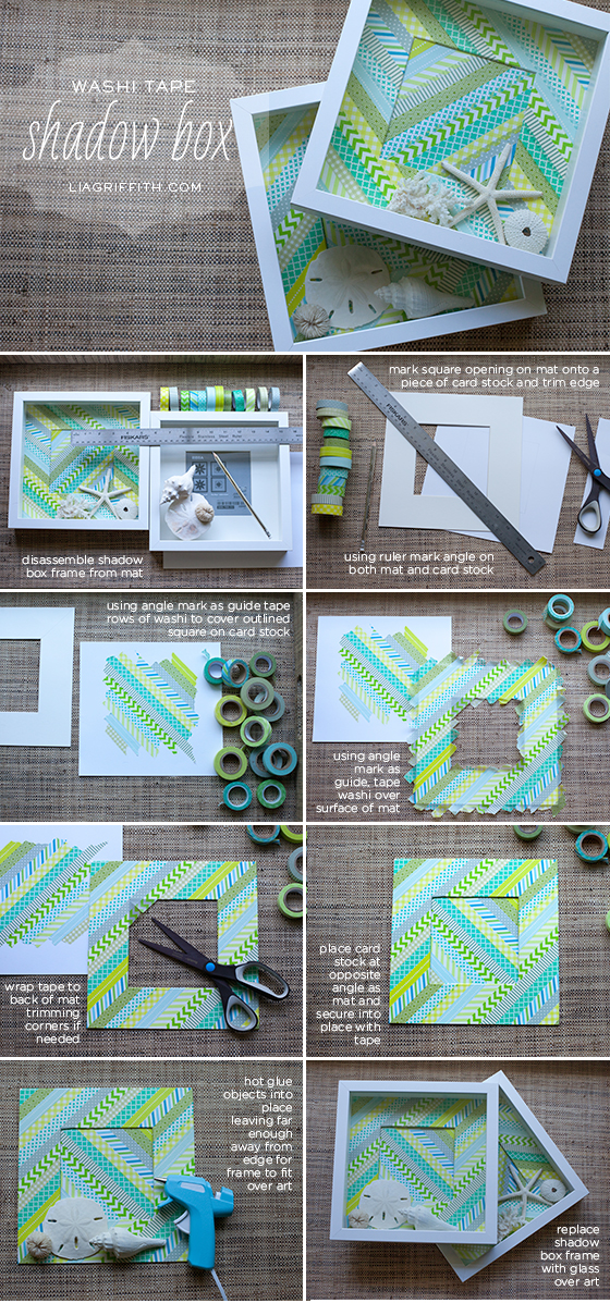 Washi Tape Shadow Box Tutorial
