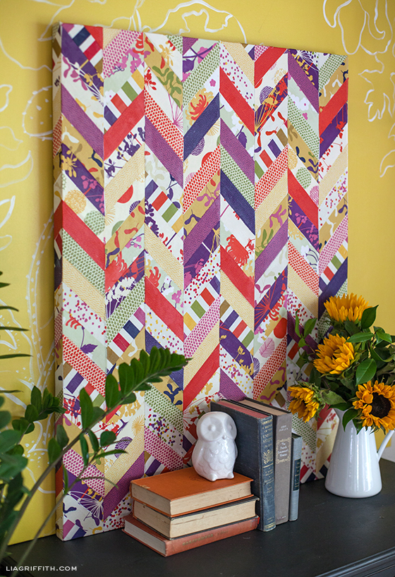 Chevron Art with Dear Stella Fabric