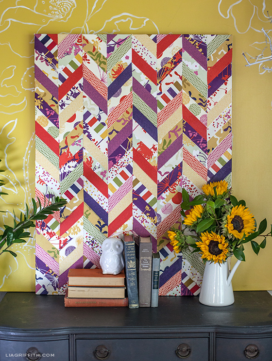 Dear Stella Fabric Chevron Art