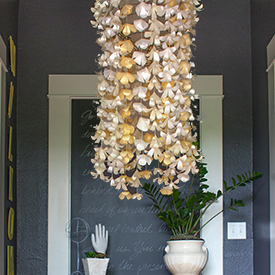 Diy paper flower chandelier aloadofball Image collections