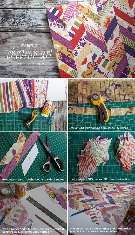 Fabric Chevron Art Tutorial