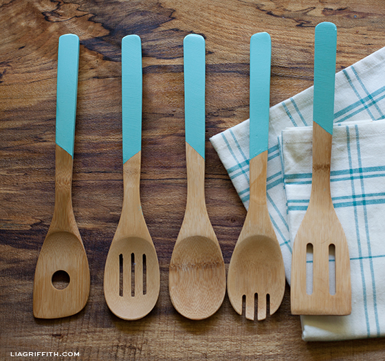 Faux Dipped Bamboo Spoons