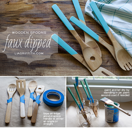 Faux Dipped Spoons Tutorial