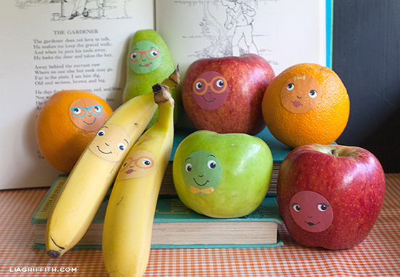 Fruit Face Stickers