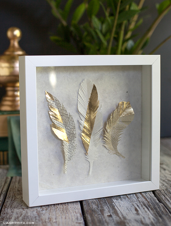 Gilded Paper Feathers