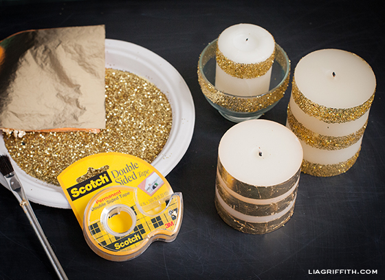 Glitter and Foil Your Candles