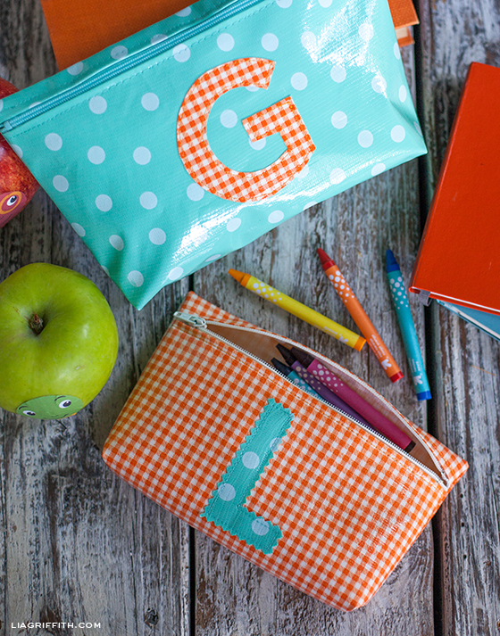 Monogrammed Zipper Bag