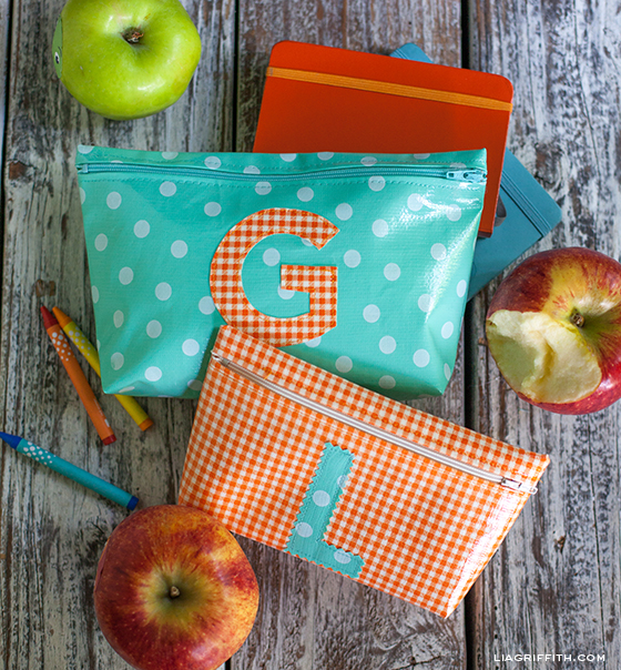 Oilcloth School Supply Bag