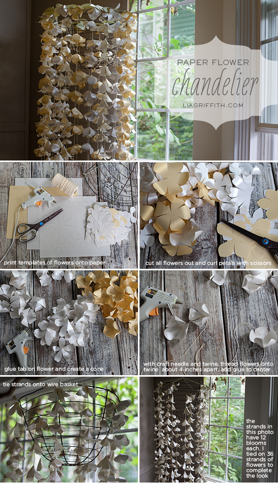 Paper Flower Chandelier Tutorial
