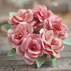 Make A Mini Paper Rose Wreath Lia Griffith
