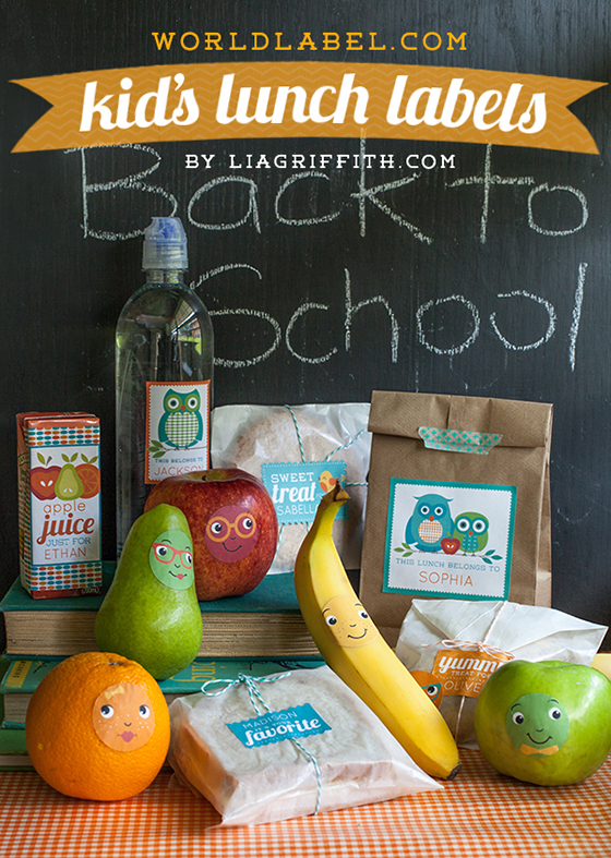 Personalized Kids Lunch Lables