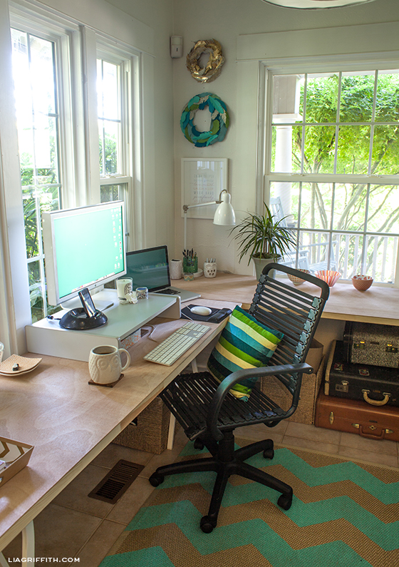 Lia Griffith Teal Office