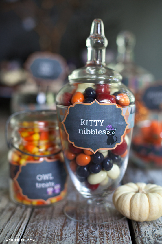Chalkboard Style Candy Labels