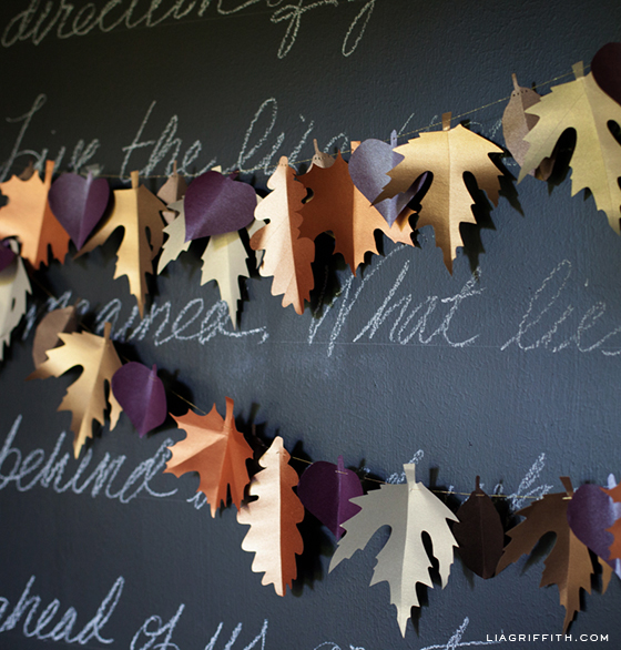 DIY Paper Leaf Garland