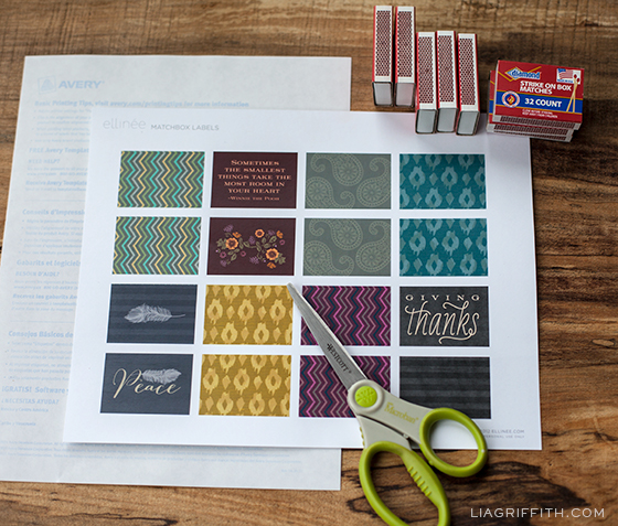Fall Matchbook Printable Label