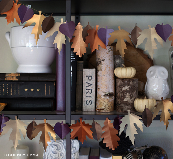 Fall Paper Leaf Garland