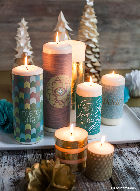 Printable candle wraps matchbox labels