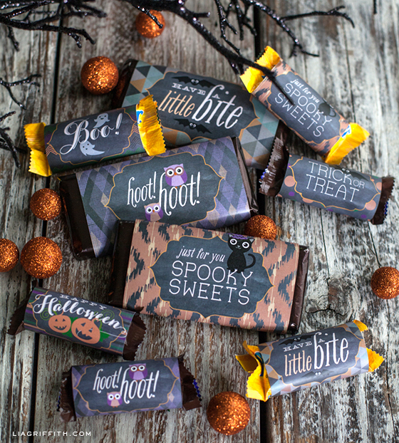 Halloween Candy Bar Labels