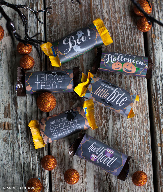 Halloween Fun Size Bar Wraps
