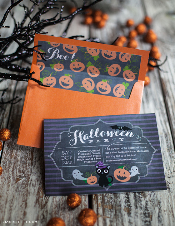photo relating to Printable Halloween Birthday Invitations titled Printable Halloween Social gathering Invitation