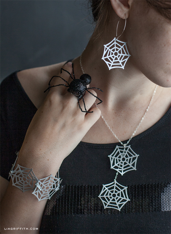Martha Stewart Spider Web Jewelry