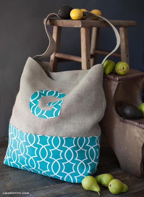 4ba35bfea Make A Monogrammed Jumbo Tote Bag