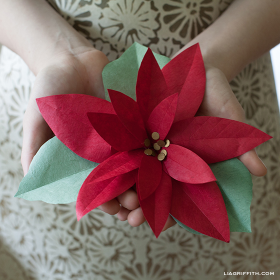 Diy paper poinsettia mightylinksfo