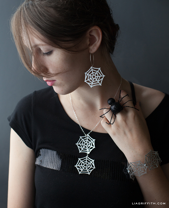 Spider Woman Paper Jewelry