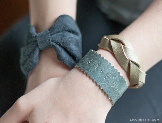 Three Leather Bracelets DIY