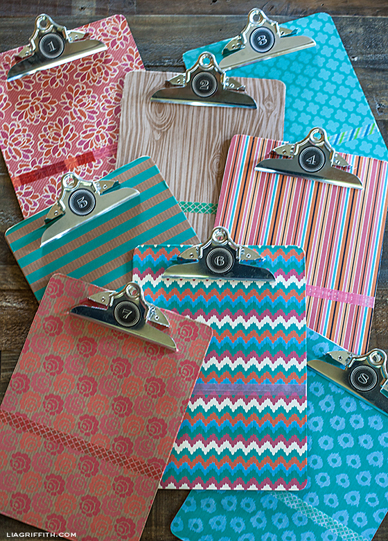 Washi Tape Label Clipboards