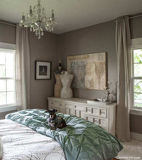 A tour of lia griffith 39 s home bedroom - Beautiful bed room wall color ...