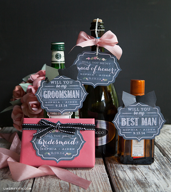 invite your bridesmaids and groomsmen to join your wedding party