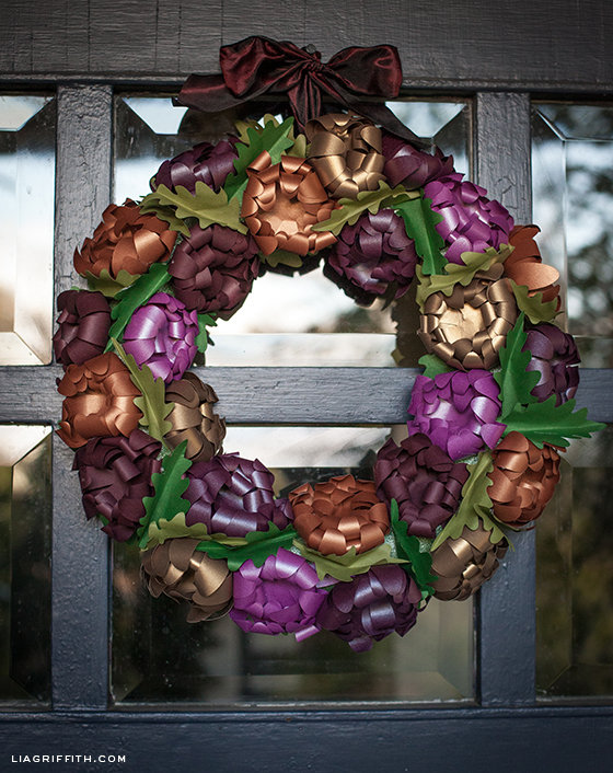 Paper Mum Fall Wreath