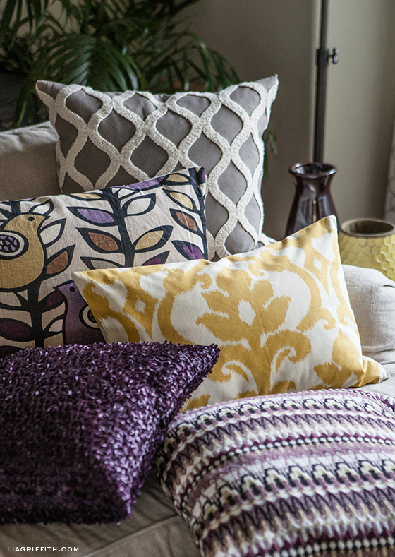 Make Easy Decorative Pillow Cover : Easy DIY Pillow Covers
