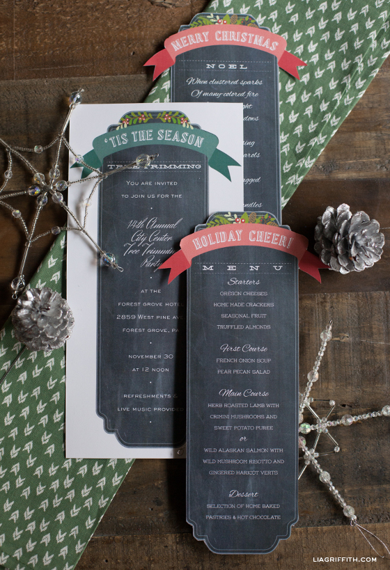 Chalkboard Template for the Holidays – Christmas Menu Word Template