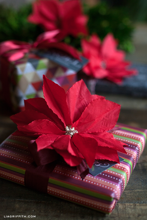 Cocktail Napkin Poinsettia DIY