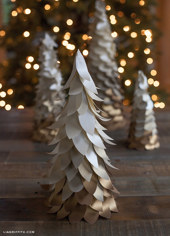 Diy Cone Christmas Trees.Ombre Cone Christmas Trees