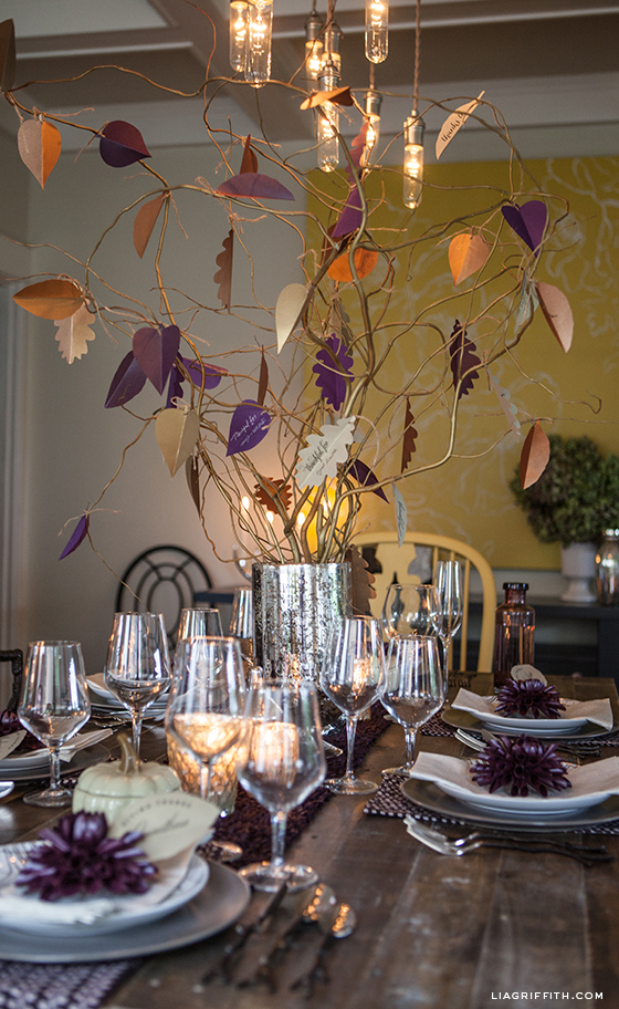 DIY Thanksgiving Tree