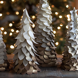 Ombre Cone Christmas Trees
