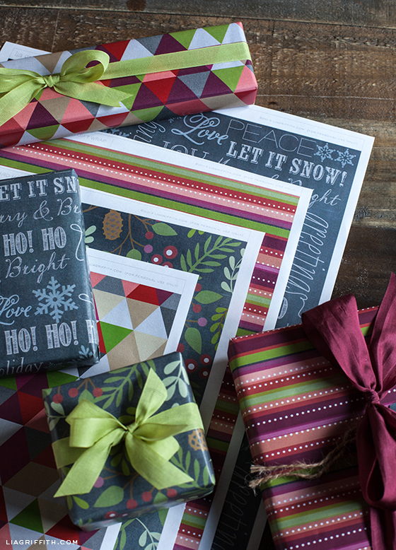 Printable Chalkboard Gift Wrap