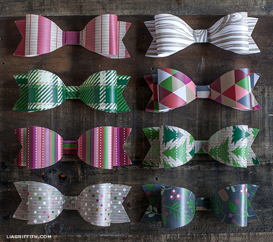 Printable Christmas Paper Bows