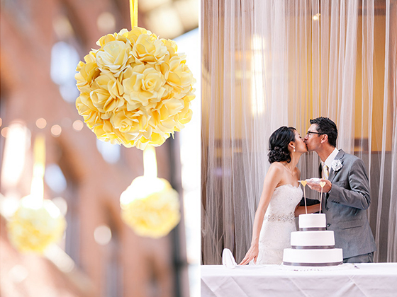 YellowPaperRoseWeddingFlowers