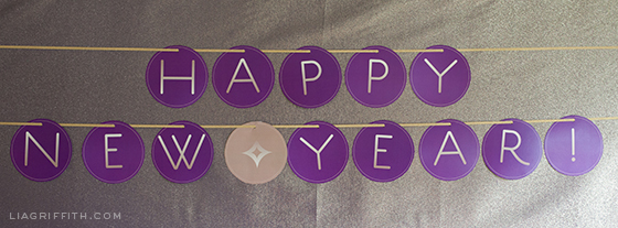 Printable New Year Banner