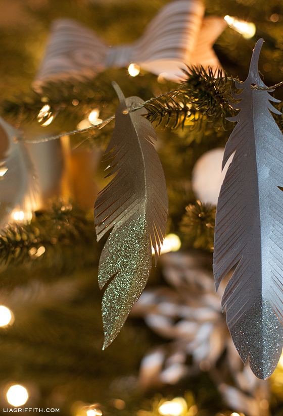 Paper Feather Tree Ornaments