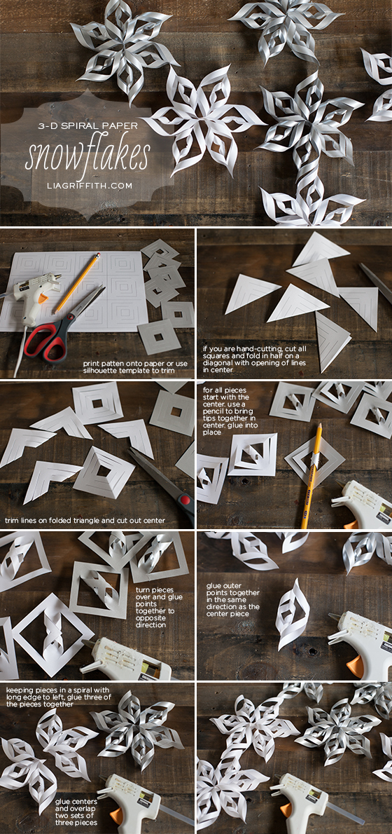 Making 3-D Paper Snowflakes