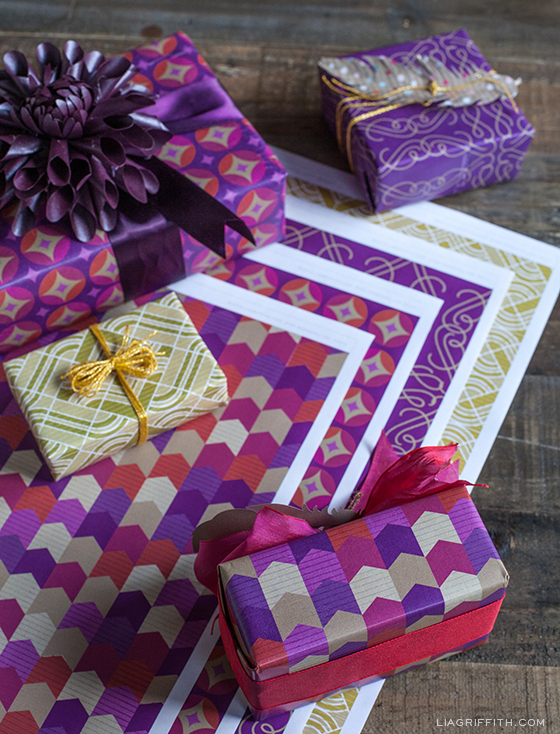 Purple Glamour Gift Wrap