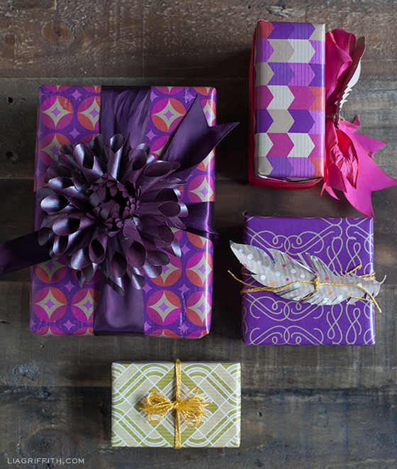Purple Gold Gift Wrap